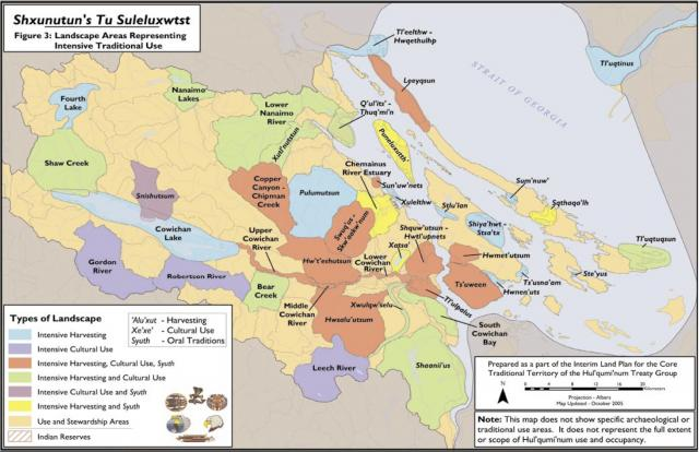 Cowichan Traditional Use Map