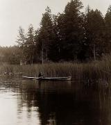 Indian canoe on Quamichan Lake